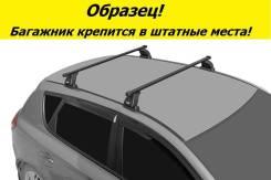 Багажник на крышу Ford Focus 2 2004-2011г. Хэтчбек! (перекладины Квадрат 1,2 метра)