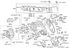Сальник хвостовика РКПП задний Toyota Land Cruiser 200 1VD 2011- (оригинал)