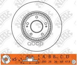 Диск Тормозной Передний Nibk Rn1348 NiBK арт. RN1348 RN1348