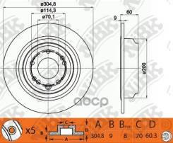 Диск Тормозной Honda Accord 08- Зад. NiBK арт. RN1407