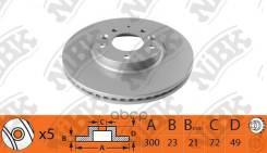 Диск Тормозной Mazda 6 07- Передн. 299x25 NiBK арт. RN1515