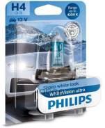 Лампа H4 (60/55w) P43t-38 Whitevision Ultra 4200k +60% 12v 12342wvu B1 35489830 Philips арт. 12342WVUB1