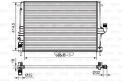 Радиатор Охл. Двс Ren Log, Sand, Dast, Lada Largus Valeo арт. 735635