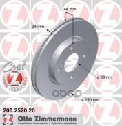 Диск Тормозной Nissan Tiida 07- Перед. Вент. Coat Z Zimmermann арт. 200252020