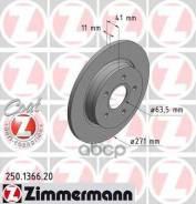 Диск Тормозной Ford Focus 3 11- Задн. Coat Z Zimmermann арт. 250136620