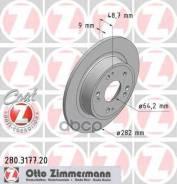 Диск Тормозной Honda Accord 08- Задн. Coat Z Zimmermann арт. 280317720 280317720