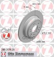 Диск Тормозной Honda Accord 08- Задн. Coat Z Zimmermann арт. 280317920