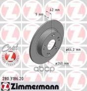 Диск Тормозной Honda Civic 06- Задн. Coat Z Zimmermann арт. 280318620
