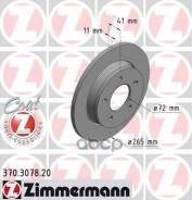 Диск Тормозной Mazda 3 03- Задн. Coat Z Zimmermann арт. 370307820