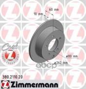 Диск Тормозной Mitsubishi Lancer 08- Задн. Coat Z Zimmermann арт. 380211020