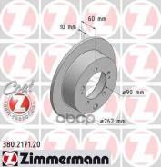 Диск Тормозной Mitsubishi Lancer 03- Задн. Coat Z Zimmermann арт. 380217120