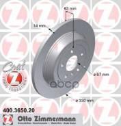 Диск Тормозной Mb W164 05- Задн. Coat Z Zimmermann арт. 400365020