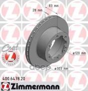 Диск Тормозной Mb Sprinter 06- Задн. Вент. Coat Z Zimmermann арт. 400647820 400647820