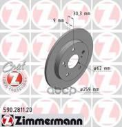 Диск Тормозной Toyota Auris 07- Задн. Coat Z Zimmermann арт. 590281120