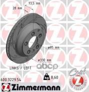 Диск Тормозной Вентилируемый (Left) Vag/Porsche Zimmermann арт. 600.3229.54, левый