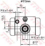 Рабочий Тормозной Цилиндр TRW арт. BWC252