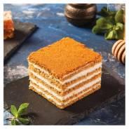 Торт Медовик сметанно-карамельный, 15 порций, замороженный, Prestige (Престиж), 1,35кг