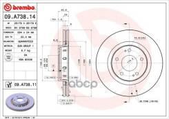 Диск Тормозной Mitsubishi Outlander 03- 2.0-3.0 Вент. Перед. Brembo арт. 09A73811