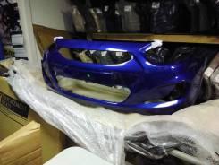 Бампер передний Hyundai Solaris 11-14 г синий wgm