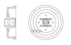 Барабан Тормозной Daewoo Lanos 05- Со Ступицей Sangsin brake арт. SD3036
