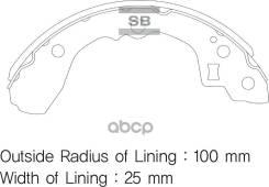 Колодки Барабанные! Kia Shuma 97/Sephia 1.5-1.8 93/Concord 95 Sangsin brake арт. SA052 Sa052_ SA052