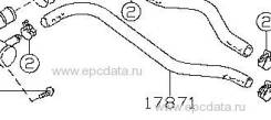 Патрубок печки 17871-60A01 Original (Suzuki), шт