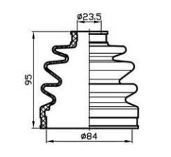 Пыльник привода (84x95x23,5) Trustauto TACB1040
