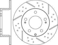 Диск тормозной задний перфорированный комплект NiBK RN1786DSET RN1786DSET