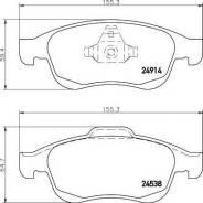 Колодки тормозные дисковые   перед   Renault Duster (HS_) 2.0 4x4 02.2012 - Renault Duster (HS_) 1.6 16V (HSAT) 02.2012 -   Textar 2491401  
