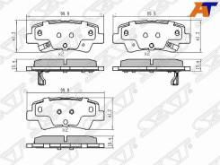 Колодки тормозные Hyundai Accent/Solaris 17-, KIA RIO 17- ST-58302-H5A00, задний ST58302H5A00