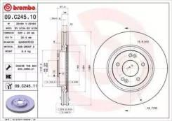 Диск тормозной UV Coated | перед | Hyundai i40 (VF) 2.0 CVVT 10.2012 - KIA Optima 2.4 GDI 09.2015 - | Brembo 09C24511 | [09C24511]