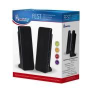 Колонки 2.0 SMARTBUY FEST черный (4Вт, питание от USB, пластик)