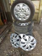 195/60R15 летняя 4 колеса на штампованных дисках отбалансирована