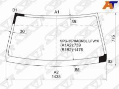 Стекло лобовое FORD Ranger (Thailand) 99-06, FORD Ranger 06- 2D, FORD Ranger 06- 4D, Mazda B2500 99-06, Mazda BT50 06- 2D, Mazda BT50 06- 4D, переднее...