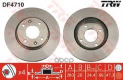 Диск Тормозной Передний! Hyundai Sonata 2.0/2.7 V6 01 TRW арт. DF4710 Df4710_ DF4710