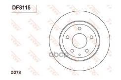 Торм. Диск Зад. [278x10] 5 Отв. Mazda 6 12/12- TRW арт. DF8115