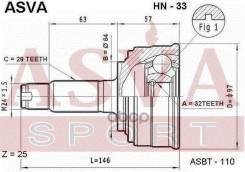 Шрус Наружный Asva Hn-33 32x64x28 ASVA арт. HN-33