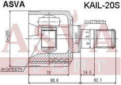 Шрус Внутренний ASVA арт. KAIL-20S KAIL20S