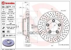 Диск Тормозной Передний! Перфорированный Porsche 911 Carrera/Turbo 3.6-4.3 00 Brembo арт. 09C87711 09. C877.11_ 09C87711
