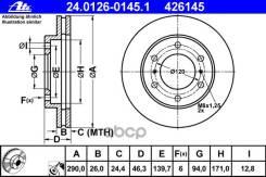 Диск Тормозной Mitsubishi Pajero 07- Перед. Ate арт. 24012601451
