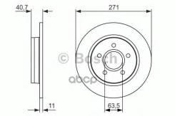 Диск Тормозной Ford Focus 3 11- Задн. Bosch арт. 0986479763