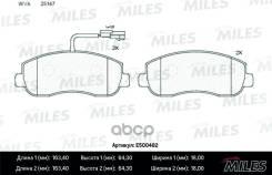 Колодки Тормозные (Смесь Ceramic) Opel Movano/Renault Master 10- Передние (Trw Gdb1910) E500482 Miles арт. E500482