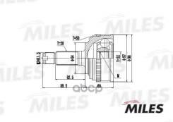 Шрус Honda Accord/Stream 1.7-2.3 99- Нар. (Abs) (Skf Vkja5641) Ga20135 Miles арт. GA20135 GA20135