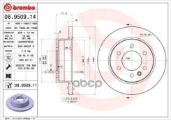 Диск Тормозной Mb/Vw Sprinter/Lt 06- Задн. D=298 Brembo арт. 08950911