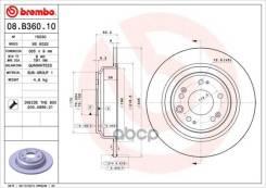Диск Тормозной Honda Accord 08- Задн. D=305мм. Brembo арт. 08B36010