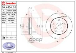 Диск Тормозной Toyota Auris/Corolla 07- Задн. (Мин. 2 Шт. ) Brembo арт. 08A53421