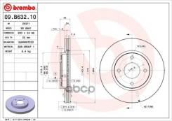 Диск Тормозной Nissan Tiida 07- 1.5-1.8 Перед. Вент. D=280 Brembo арт. 09B63210