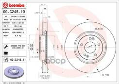 Диск Тормозной Передний Hyundai I40/Kia Optima 2010- /Vent D=320mm Brembo 09. C245.11 Brembo арт. 09. C245.11 09C24511