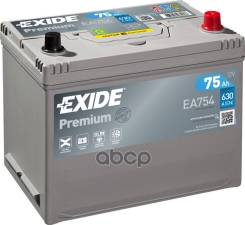 """Аккумуляторная Батарея Premium [12v 75ah 630a Koreanb1] 230x173x222mm Полярность Etn 0 [-/+] Тип Клеммы 1(En) [""""+"""" D 19.5 """"-"""" D17.5] 270x173x222mm Пол..."""