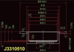 Тормозной диск Nipparts J3310510 Hyundai / Kia (Mobis): 58411-39300 5841139600 58411-3K300 Hyundai Azera (Tg). Hyundai Embera V (Nf). Hyundai
